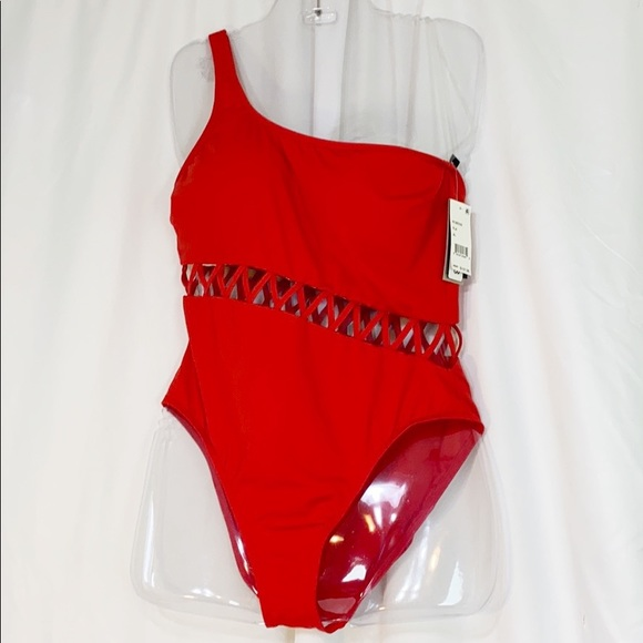 Kenneth Cole Other - NWT Kenneth Cole Swimsuit XL Zig Zag One Shoulder